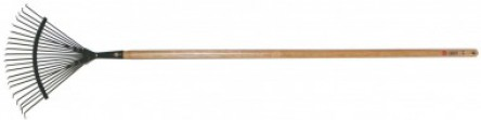Metal fixed broom round rod colour green - handle 120 cm