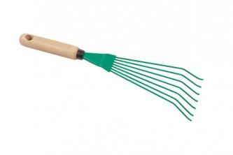 Small broom 7 teeth, wooden handle